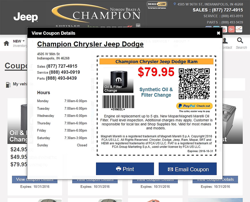 Jibbio Scan & Pay QR codes auto-generated with each coupon created to enable purchases from smartphones