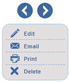 Edit, update, email, print, or delete homeowners information and requests on the fly