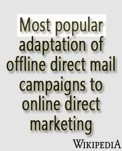 Most popular adaptation of offline direct mail campaigns to online direct marketing