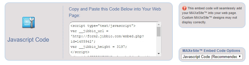 Embed form to website (copy and paste HTML code) or use public form link