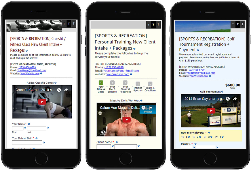 Edit over 50 turnkey mobile-friendly minisite form templates and launch