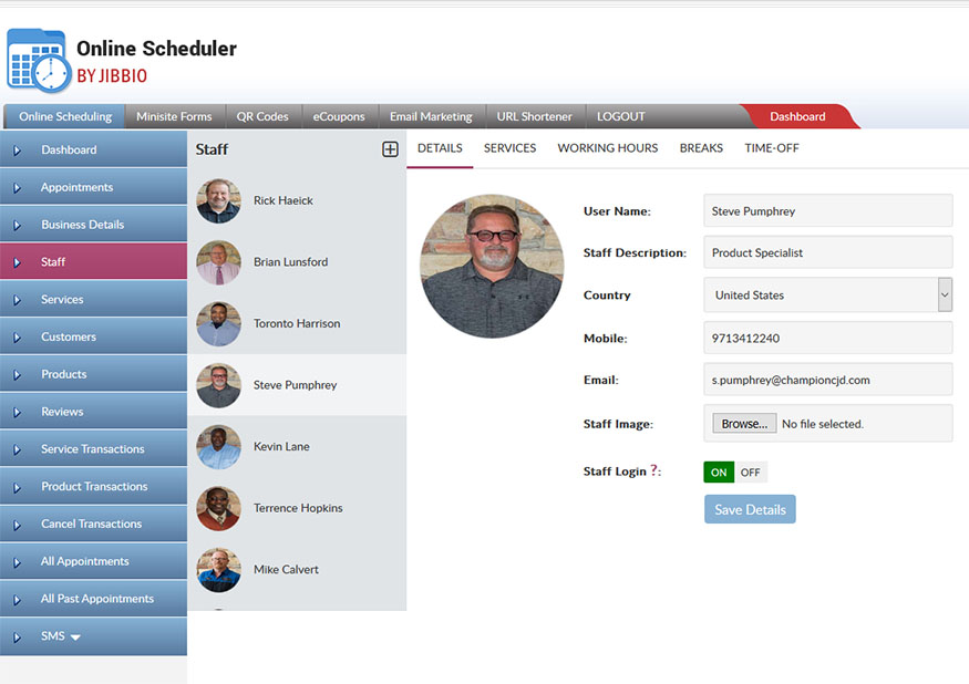 Enable current and future staff to accept online appointments without worrying about staff limits